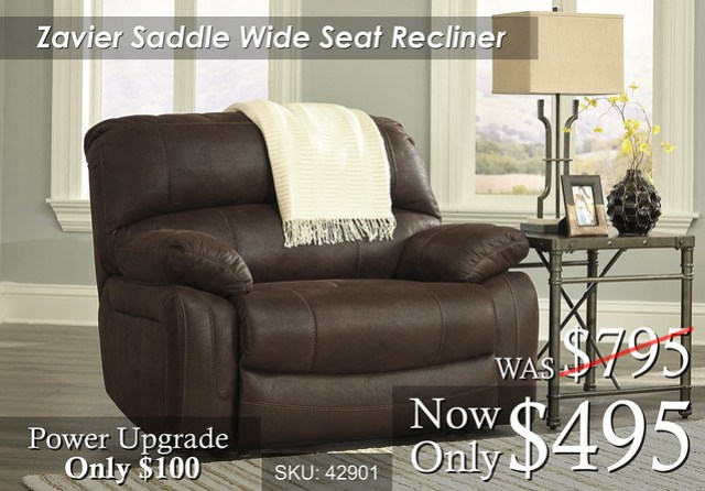 Zavier Saddle Wide Recliner