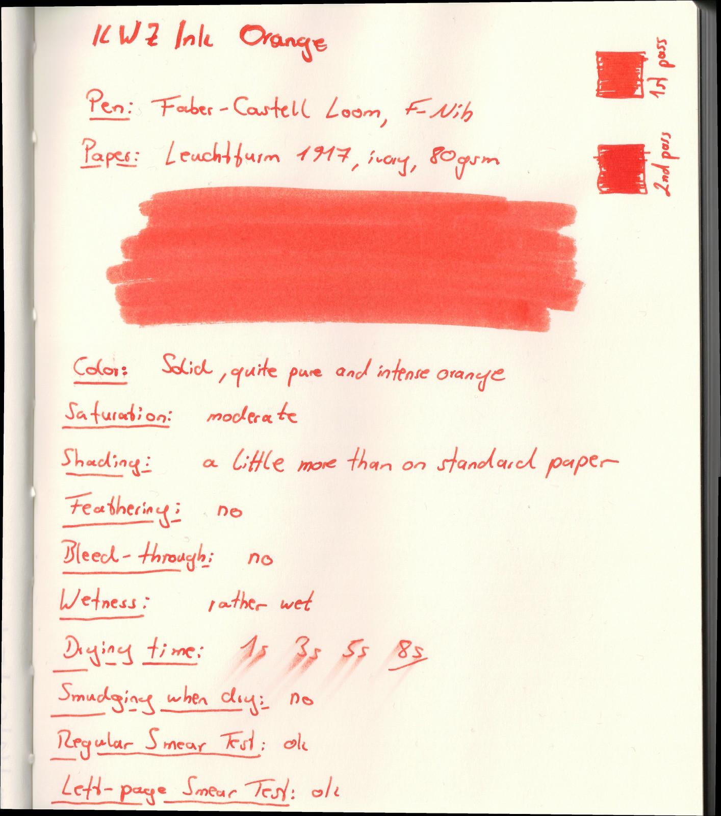 KWZ Ink Orange on Leuchtturm paper
