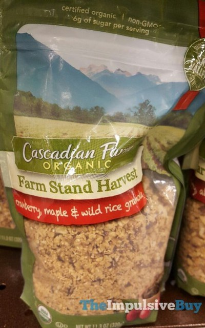 Cascadian Farm Farm Stand Harvest Cranberry, Maple & Wild Rice Granola