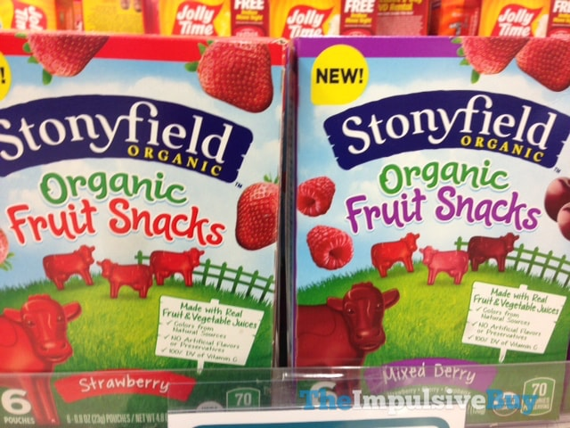 Stonyfield Organic Fruit Snacks (Strawberry and Mixed Berry)