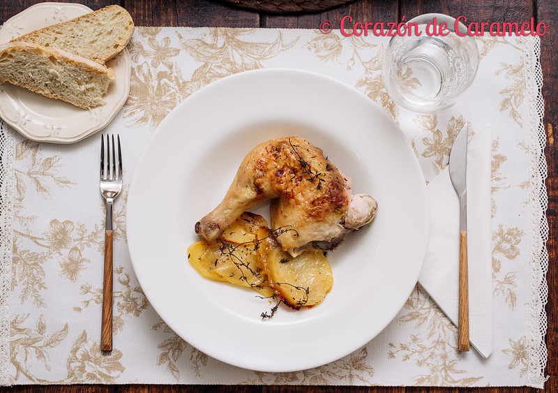 Pollo Asado con Limón y Tomillo