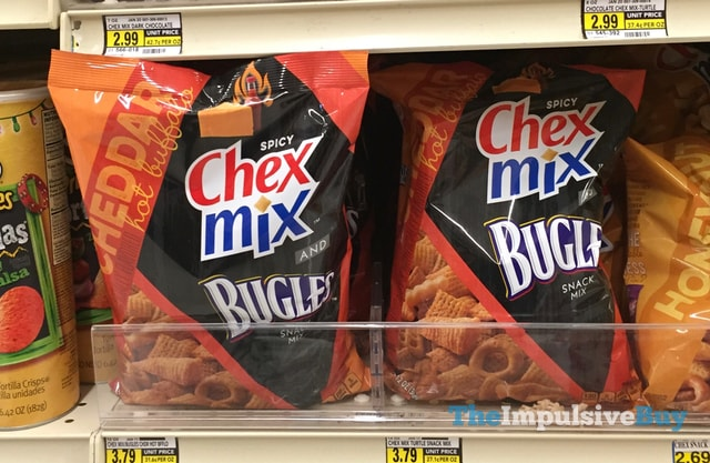 Cheddar Hot Buffalo Spicy Chex Mix and Bugles Snack Mix