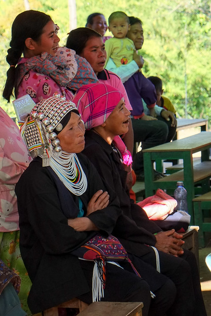 Parents at hill tribe school recital.