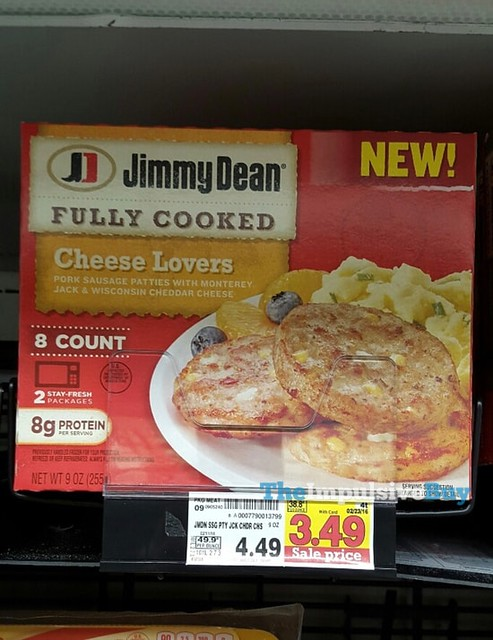 Jimmy Dean Cheese Lovers Pork Sausage Patties