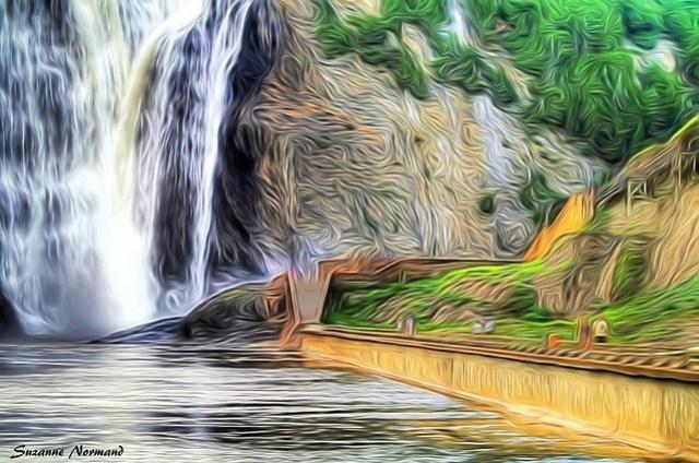 Les chutes Montmorency à la Van Gogh