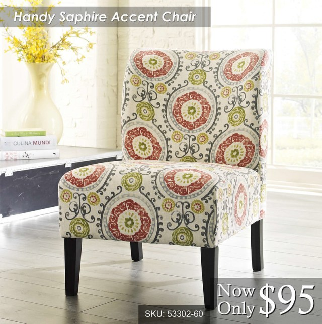 Handy Saphire Accent Chair