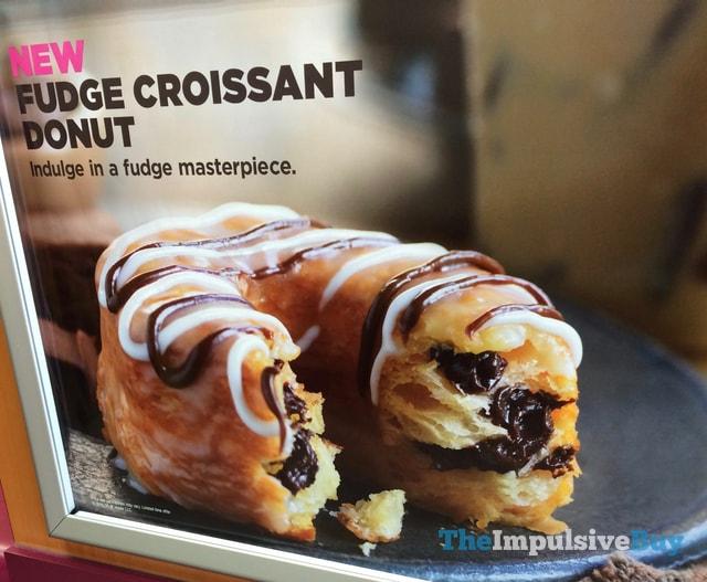 Dunkin Donuts Fudge Croissant Donut