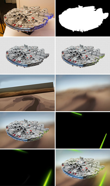 Photoshopping the Millennium Falcon