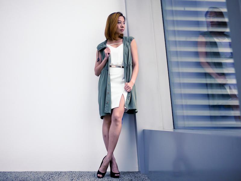 white dress singapore fashion