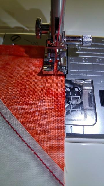 Scant 1/4 inch seam