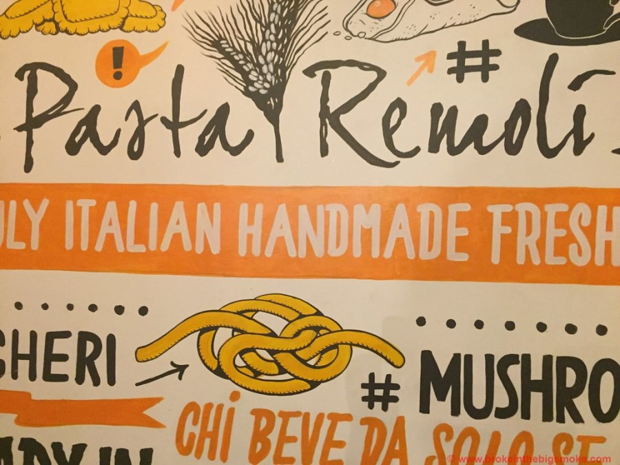 Pasta Remoli Finsbury Park Sign