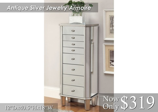 Antique Silver Armoire