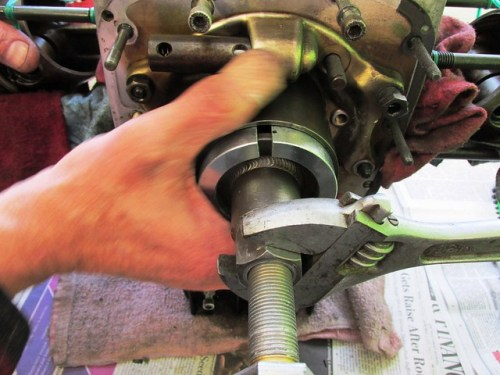 Removing Crankshaft Sprocket and Nose Bearing