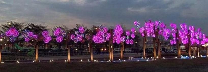 元智大學學生創作桃花林花燈 (2)