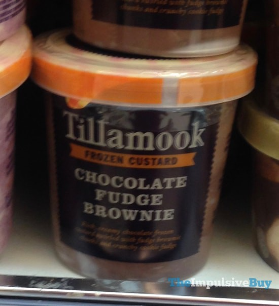 Tillamook Chocolate Fudge Brownie Custard