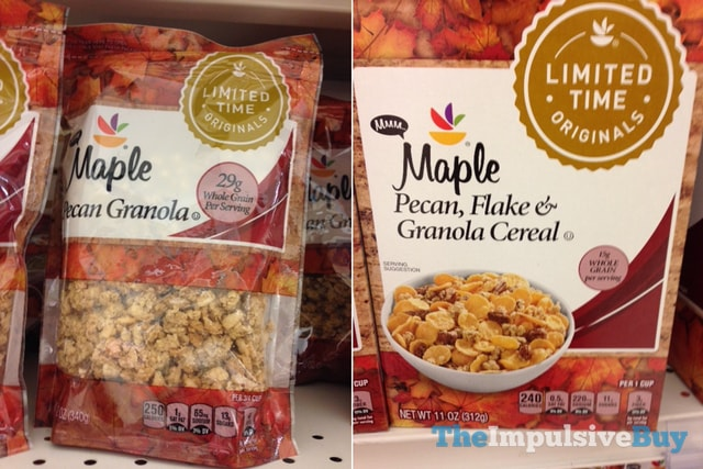 Giant Limited Time Originals Maple Pecan Granola and Maple Pecan, Flake & Granola Cereal