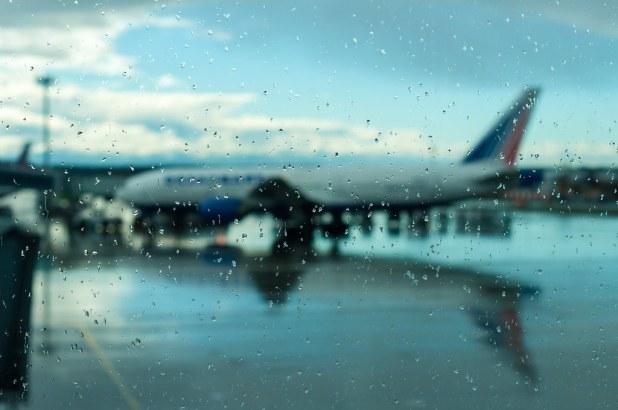 Lluvia en aeropuerto de Miami