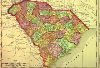 1895 Map of South Carolina