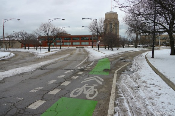 Franklin Boulevard bike lane wasn't plowed