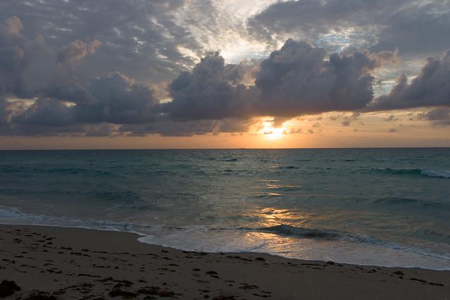 Lever de soleil sur l'Atlantique