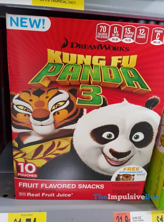 DreamWorks Kung Fu Panda 3 Fruit Flavored Snacks