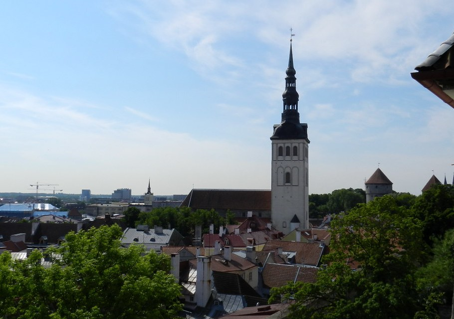 Toompea Vistas Generales Ciudad Alta Casco Histórico Tallinn Estonia 03
