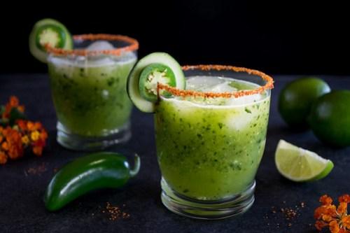 jalapeño-cucumber margaritas
