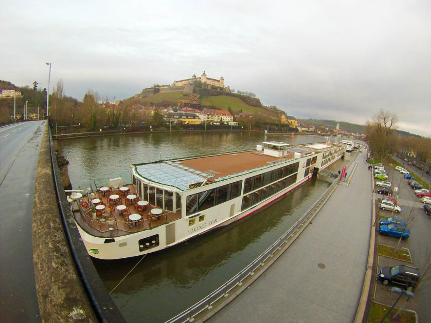 Viking Tor in Würzburg - Heart of Germany Christmas Market Cruise with Viking River Cruises, Dec. 2015