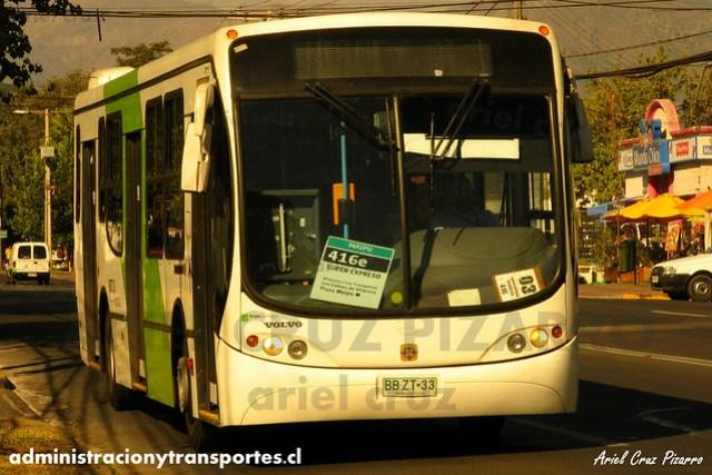 Transantiago (416e) - Express - Busscar Urbanuss Pluss / Volvo (BBZT33)