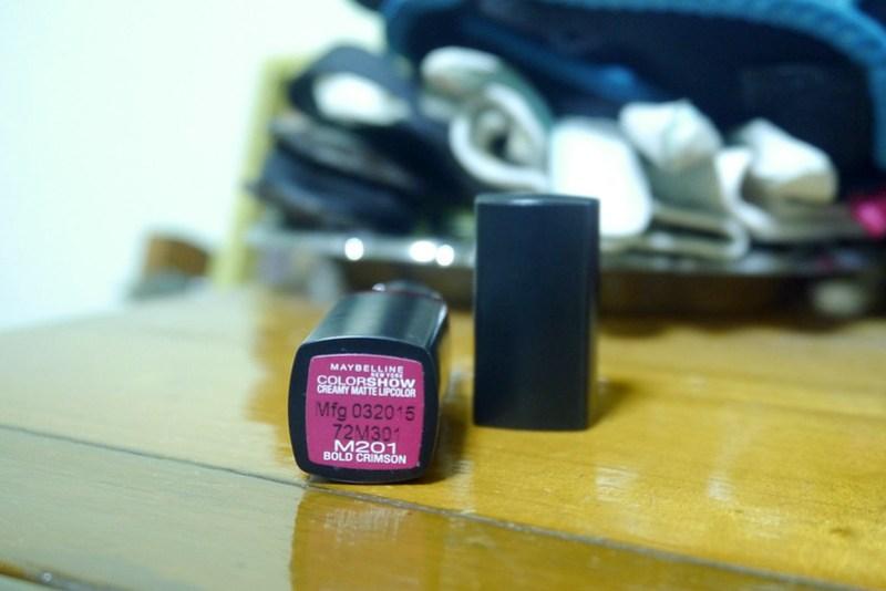 Maybelline ColorShow Creamy Matte LipColor Bold Crimson 20160211_224551
