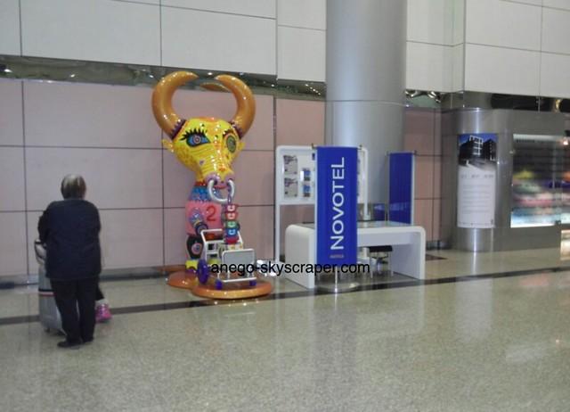 空港 ノボテルカウンター