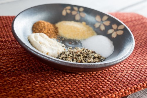 a circle of spices
