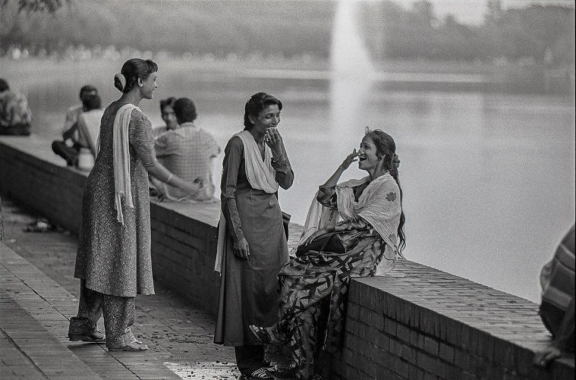 Hajera and peer sex workers at Crescent Lake. Dhaka