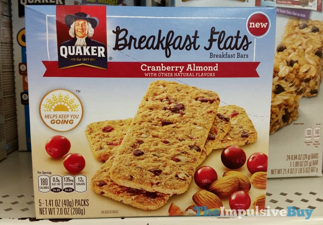 Quaker Cranberry Almond Breakfast Flats