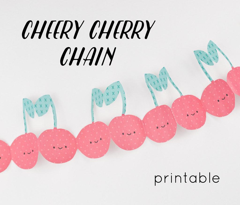 Wild Olive Printable Cheery Cherry Chain