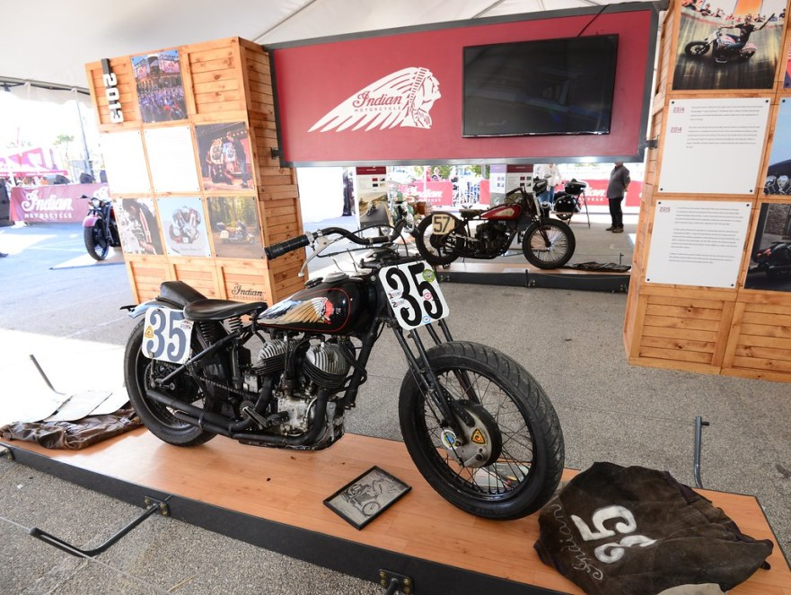 Indian Historic bikes at the Speedway show - Bike Week 2016