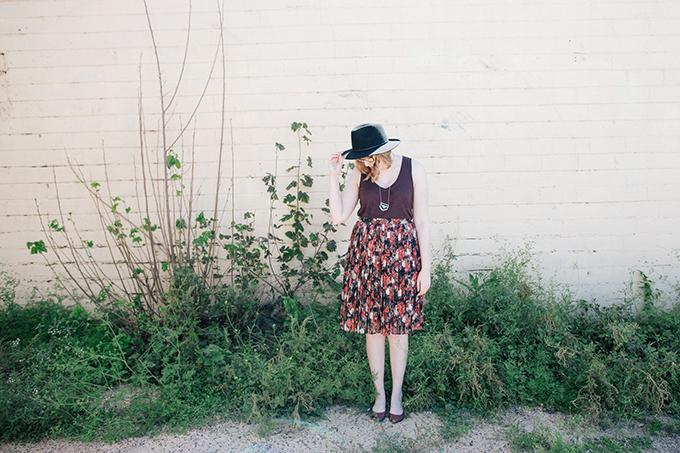 burgundy tank floral skirt7
