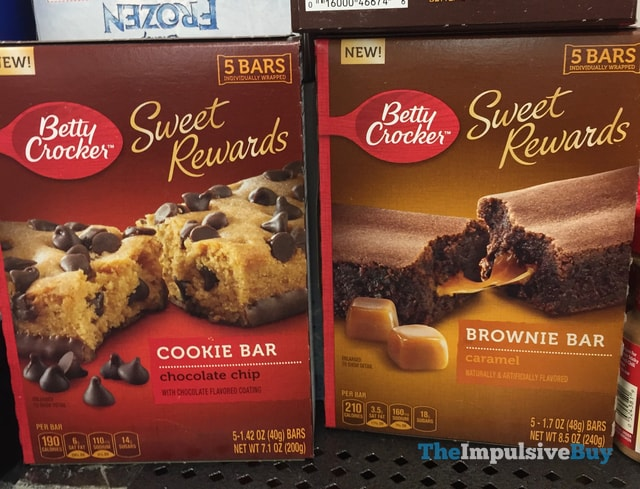 Betty Crocker Sweet Rewards Chocolate Chip Cookie Bar and Caramel Brownie Bar