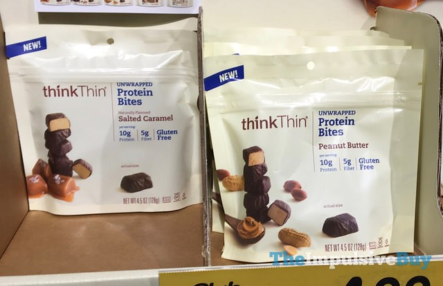 thinkThin Salted Caramel and Peanut Butter Protein Bites