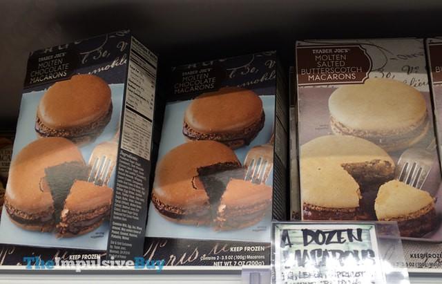 Trader Joe's Molten Chocolate and Molten Salted Butterscotch Macarons