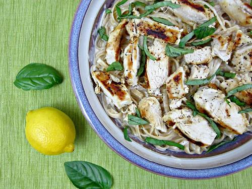 Lemon Basil Chicken Fettuccine