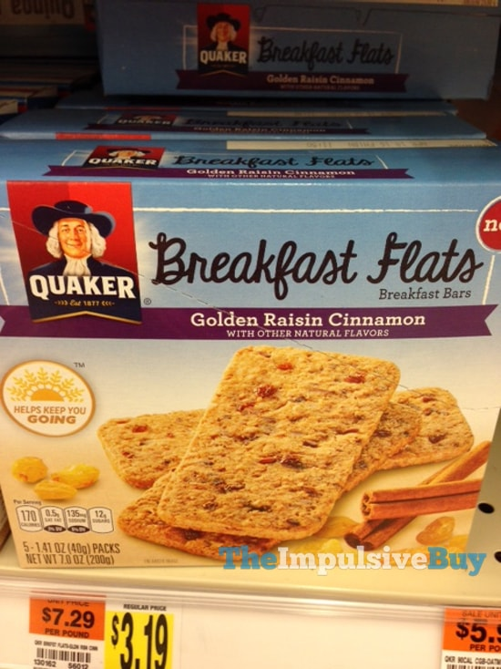 Quaker Golden Raisin Cinnamon Breakfast Flats