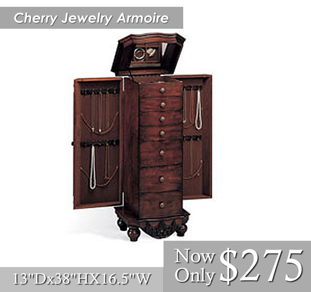 Cherry Jewelry Armoire