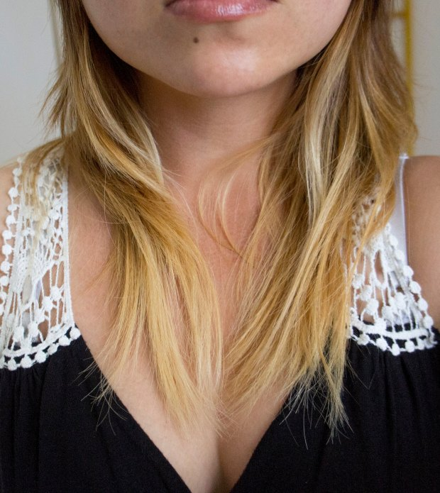 Asian Black Blonde Ombre Hair DIY