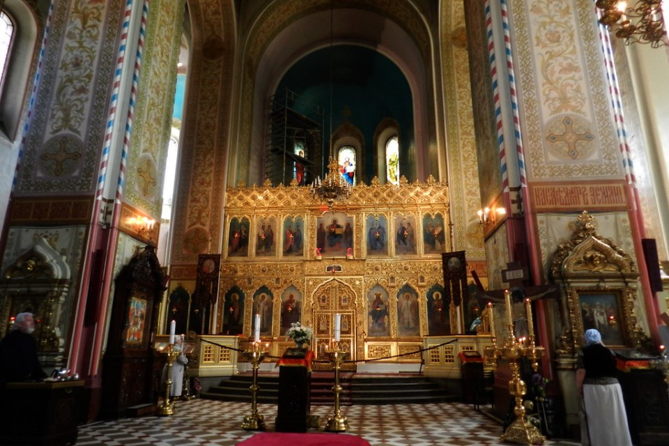 Interior Catedral Ortodoxa Alexander Nevsky Tallin Estonia  01