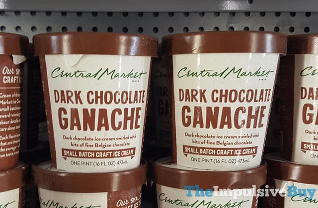H-E-B Central Market Dark Chocolate Ganache Small Batch Ice Cream