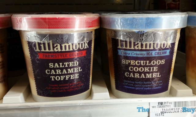 Tillamook Salted Caramel Toffee Gelato and Speculoos Cookie Caramel Ice Cream