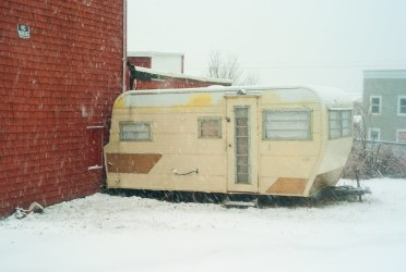 Trailer in the Snow