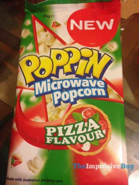 Poppin Microwave Popcorn Pizza Flavour