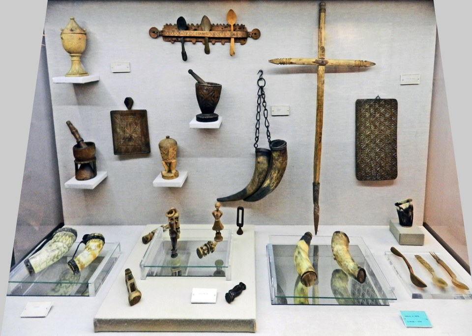 Etnografia utensilios del oficio de Pastores casa de las Veletas Museo Provincial Caceres 04